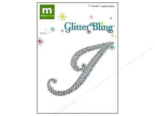 stickers  glitter: Making Memories Stickers Bling Monogram Script I