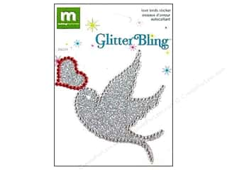stickers  glitter: Making Memories Stickers Glitter Bling Love Birds