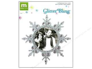 Making Memories Stickers Glitter Bling Frame Silver Snowflake