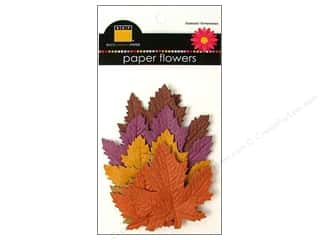 Scrapbooking &amp; Paper Crafts  Flowers / Blossoms: Bazzill Flowers Paper Leaves Harvest Collection