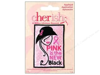 Non-Profits Black: Simplicity Cherish Applique Medium Pink Is Hat