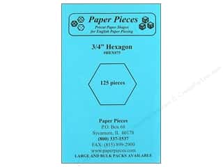 "Paper Pieces Sewing Construction: Paper Pieces Shape Hexagon 3/4"" 125pc"