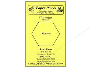 "Paper Pieces paper dimensions: Paper Pieces Shape Hexagon 1"" 100pc"