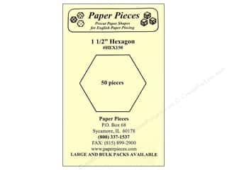 "Paper Pieces Shape Hexagon 1 1/2"" 50pc"
