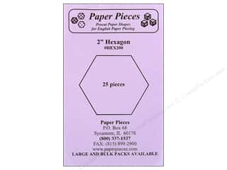 "Paper Pieces paper dimensions: Paper Pieces Shape Hexagon 2"" 25pc"