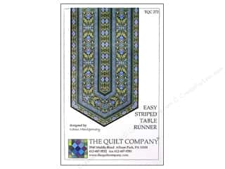 Suzn Quilts Patterns Table Runner & Kitchen Linens Patterns: The Quilt Company Easy Striped Table Runner Pattern
