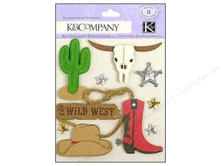 Scrapbooking Dimensional Stickers: K&Company Stickers Dimensional Cowboy