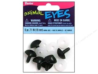 Dolls and Doll Making Supplies Black: Darice Animal Nose with Plastic Washers 18 mm Black 6 pc.