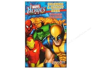Activity Books / Puzzle Books: Coloring & Activity Sticker Marvel Hero Book (3 pieces)