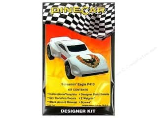 Rub-Ons Pinecar Kits & Accessories: PineCar Kits Designer Screamin Eagle