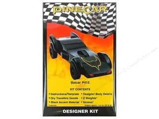 Pinecar Kits & Accessories Captions: PineCar Kits Designer Bat Car