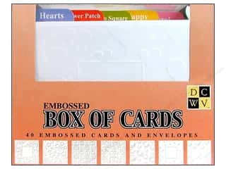 DieCuts Box of Cards A2 Embossed 40pc