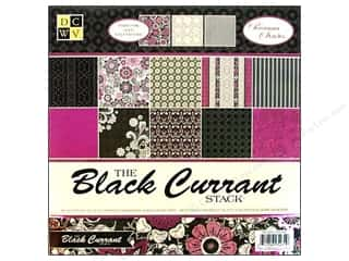 Die Cuts 12 x 12 in. Paper Stack Black Current