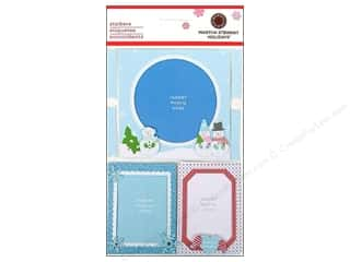 Winter Wonderland: Martha Stewart Sticker Frames Winter Wonderland