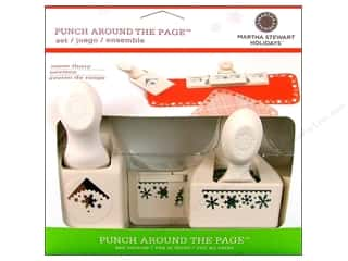 Punches Christmas: Martha Stewart Punch Around The Page Set Snow Flurry