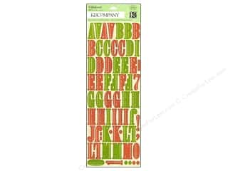 K & Company ABC & 123: K&Company Stickers Die Cut Yuletide Alphabet