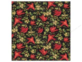 K&amp;Co Paper 12x12 SW Glad Tidings Cardinal &amp; Holly (25 sheets)