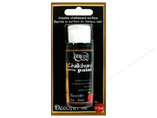 acrylic paint: DecoArt Chalkboard Paint 2oz Black Slate Carded