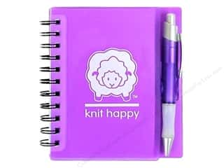 Happy Lines Idea Notebook Knit Purple