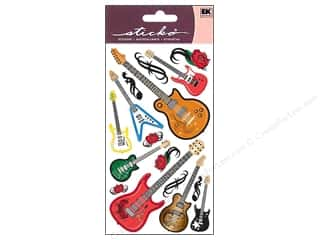 Music & Instruments Stickers: EK Sticko Stickers Guitar Rock