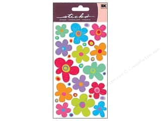 EK Sticko Stickers Primary Flowers
