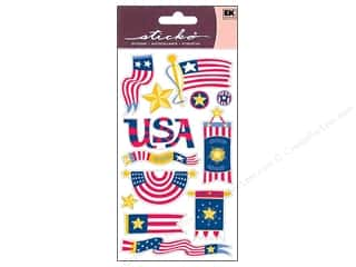sticker: EK Sticko Stickers American Flags