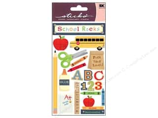 Craft Embellishments Back to School: EK Sticko Stickers School Rocks