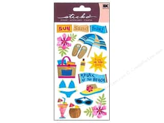 EK Success Vacations: EK Sticko Stickers Vellum Sun Surf Sand