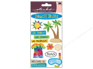 sticko: EK Sticko Stickers Vellum Beach Bums