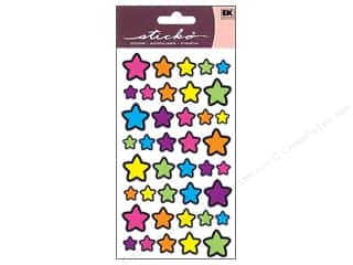 EK Sticko Stickers Foil Technicolor Stars