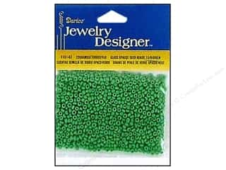 Darice Beads Jewelry Designer Seed 10/0 Opaque Green