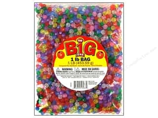 Clearance Blumenthal Favorite Findings: Darice Bead Faceted Trans 8mm 1lb Multi 2000pc