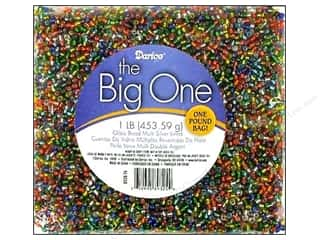 darice: Darice Bead E Glass Silver Lined Multi 1lb