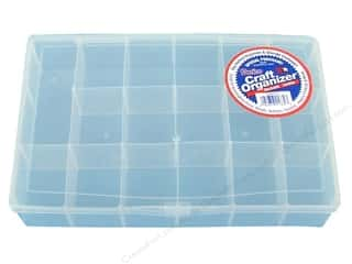 Sewing & Quilting Clear: Darice Organizer Box 17 Compartment Clear
