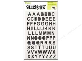 "Darice Sticker 5""x 8"" Upper Letter Prisim Black"