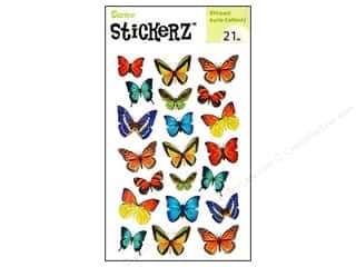 Insects Stickers: Darice Sticker Butterfly Paper 21pc