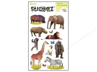 Darice Sticker Safari Animals 12pc