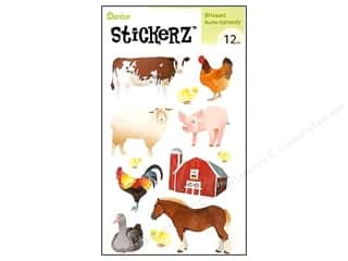 Farms Scrapbooking & Paper Crafts: Darice Sticker Barn Animals 12pc