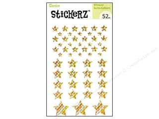 Independence Day Stickers: Darice Sticker Gold Stars 52pc