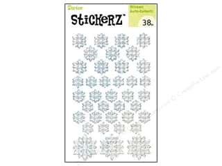Kid Crafts Christmas: Darice Sticker Snowflake White 38pc