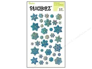 Kid Crafts Christmas: Darice Sticker Snowflake Blue 37pc