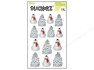 Kid Crafts Christmas: Darice Sticker Snowman Christmas Tree 14pc