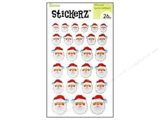 Kids Crafts paper dimensions: Darice Sticker Santa Claus 26pc