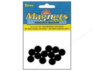 "Magnets: Darice Magnet Adhesive Back Mini 1/2"" Round 12pc"