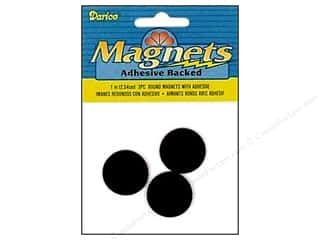 Magnets: Darice Magnet Adhesive Back 1&quot; Round 3pc