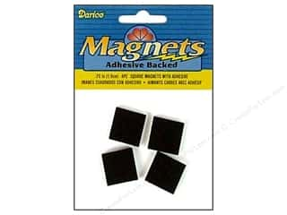 "Magnets: Darice Magnet Adhesive Back 3/4"" Square 4pc"