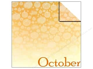 Scrappin Sports Paper 12x12 Calendar October (25 sheets)