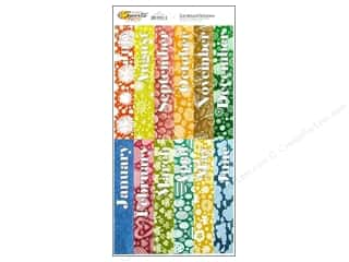 Sports Stickers: Scrappin Sports Sticker Cardstock Calendar Topper