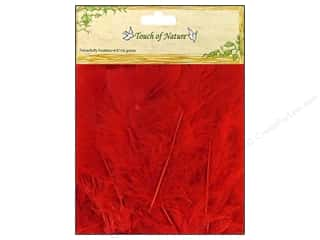 "Basic Components Feathers: Midwest Design Feather Turkey Flat 4-6"" Red 14gm"