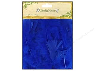 "Charms Basic Components: Midwest Design Feather Turkey Flat 4-6"" Blue 14gm"